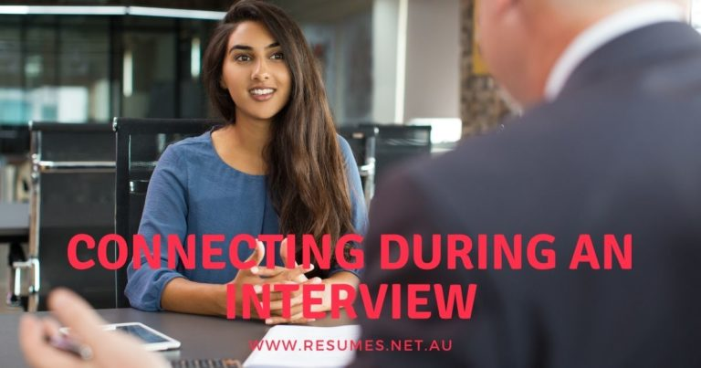 Connecting during an interview